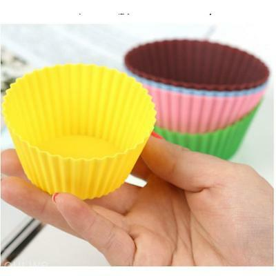 Soft Silicone Round Cake Muffin Chocolate Cupcake Mold Liner Baking Cup Mould