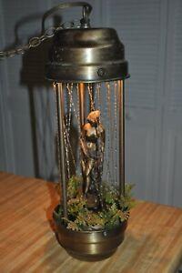 Vintage Hanging Oil Rain Lamp Motion Nude Lady Greek
