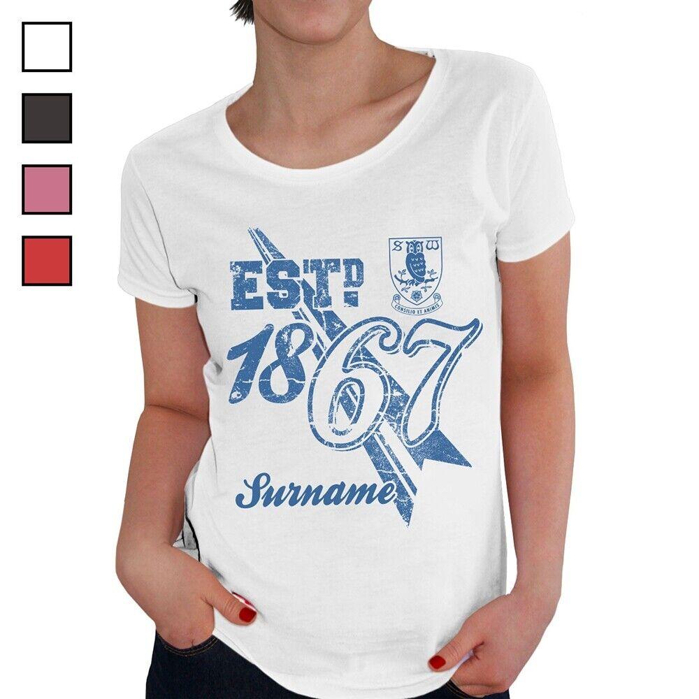 Sheffield Wednesday F.C - Personalised Ladies T-Shirt (ESTABLISHED)