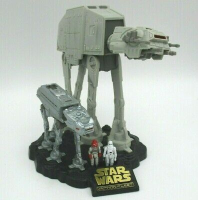 Remote Control Imperial AT-AT with Snowtrooper and Imperial Driver Micro Figures Micro Machines Star Wars Action Fleet Year 1996 Action Vehicles