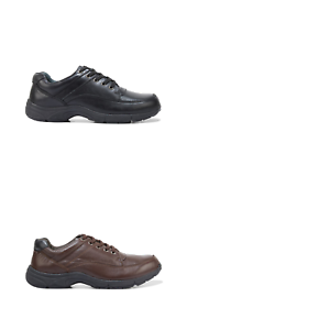 b6c3a6b230ce8 Mens Hush Puppies Streeton Black Brown Leather Wide Fit Laces Dress ...