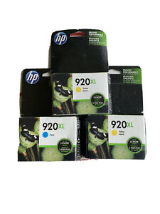 Genuine HP 920XL Ink Color Cartridge 920 XL 2 Yellow 1 Cyan Expired (Read) Lot