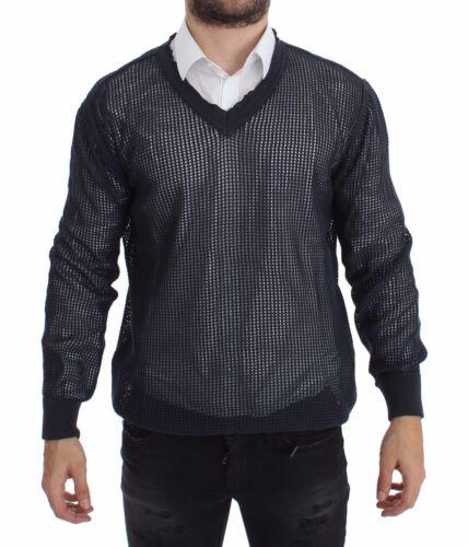 50 NWT $660 DOLCE /& GABBANA Blue Runway Netz Pullover Netted Sweater s L