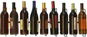 514e45ba1e Southern Homewares Wall Mount Wine Bottle Storage Rack Holds up To 9 Bottles