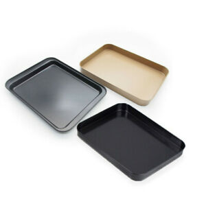 1X-Baking-Tray-Rectangular-Non-Stick-Metal-Cake-Bread-Baguette-Pan-Oven-Bakeware