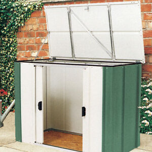metal storage locker metal bike storage shed garden outdoor tools box yard 23292