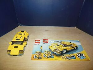 Details About Lego 4939 Creator 3 In 1 Cool Cars Set 100 Complete With 2 Instructions