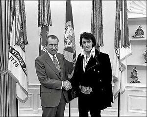 Elvis Presley Richard Nixon Photo 8X10 - 1970 White House Oval Office