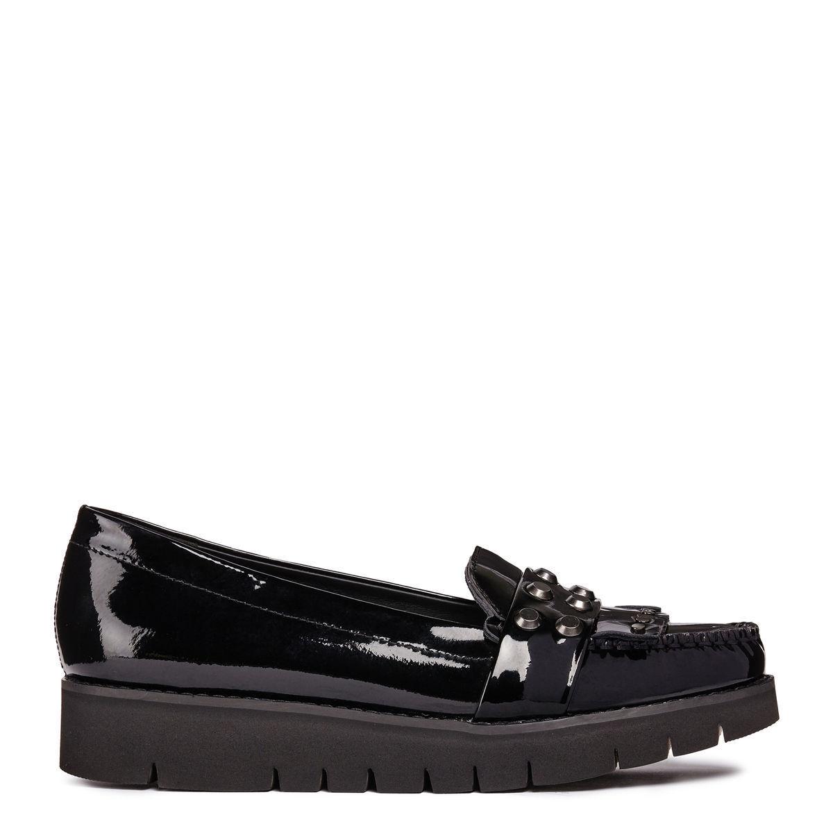 più economico GEOX scarpa scarpa scarpa donna nero mocassino Blenda nero vernice D840BB autunno inverno  nelle promozioni dello stadio