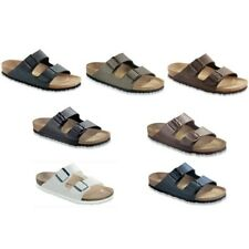 Birkenstock Arizona sandals shoes slides blue brown black white Birko Flor
