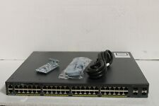 Cisco  Catalyst 2960 (WS-C2960X-48FPS-L) 48-Ports-Ports Rack-Mountable Switch Managed