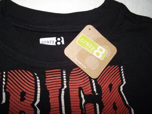 Boys Halloween L//S T Shirt Trick Treat Black Orange Bones XS S M 4 5 6 7 8 New