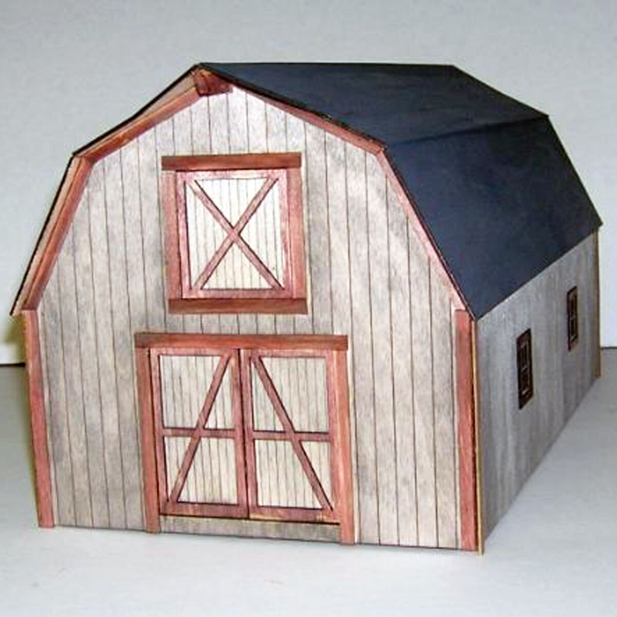 LANCASTER DAIRY BARN O On3 On30 ModelRailroad Structure Unptd Laser Kit  DF414