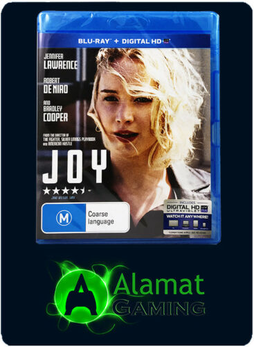 1 of 1 - Joy (Blu-ray) Brand New Sealed - Free Post - Jennifer Lawrence - Biographical