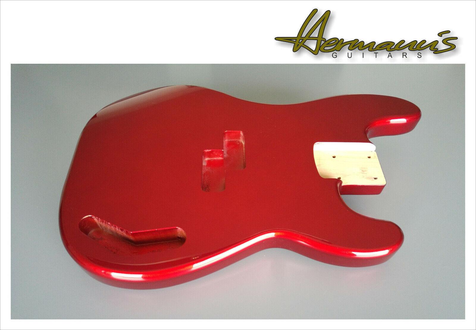 Precission Bass Erle Body, Preci Bass Alder Body, High Gloss Candy Apple rot