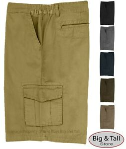 Big-amp-Tall-Men-039-s-Expandable-Waist-Cargo-Shorts-Sizes-44-70-by-Full-Blue