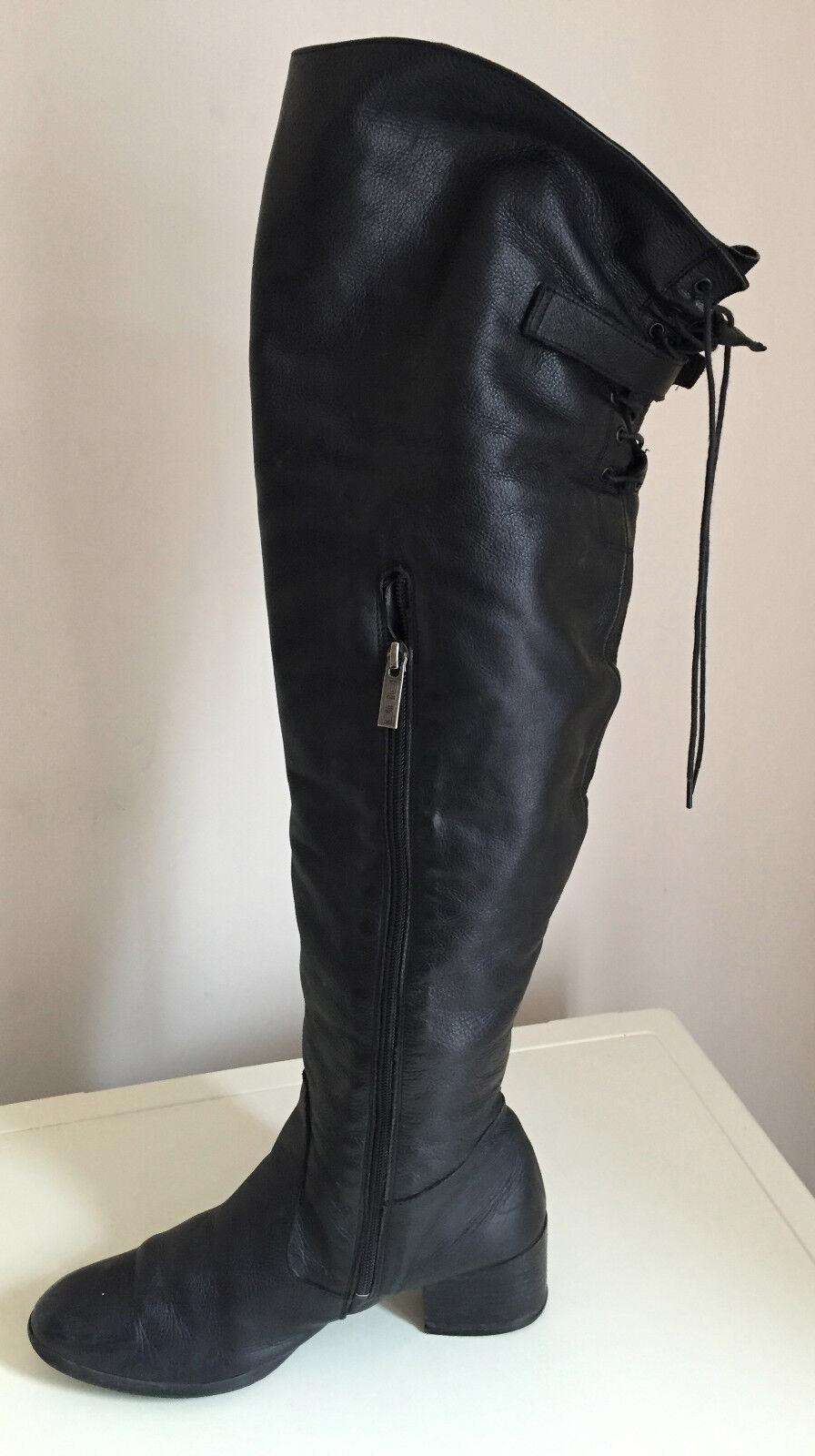 Para Mujeres Sexy encima de la rodilla negro de la rodilla Botas