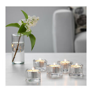 IKEA-GLASIG-Glass-SQUARE-Tea-Light-Holder-Candle-Holders-Wedding-Tealight-38mm