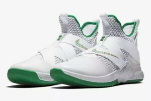 c360455a4e5 NIKE LEBRON SOLDIER XII SVSM Home White Green AO2609-100 NEW Mens SZ ...