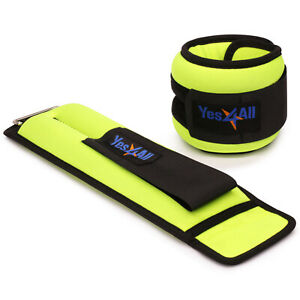 Yes4All-Ankle-Wrist-Weight-Pair-Set-with-Adjustable-Strap-Pair-of-3-lbs-Lime