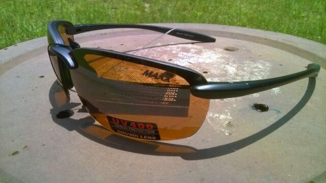 69ce2a2a24 2017 Maxx Sunglasses Maxx 5 Black Frame Tr90 HD Amber Lenses