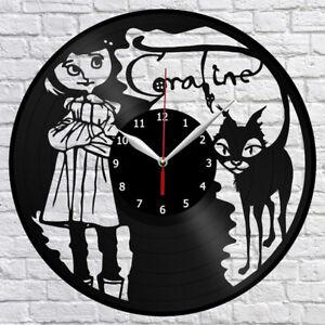 Coraline Cartoon Vinyl Record Wall Clock Fan Art Home Decor 12 30cm 1085 749628953670 Ebay