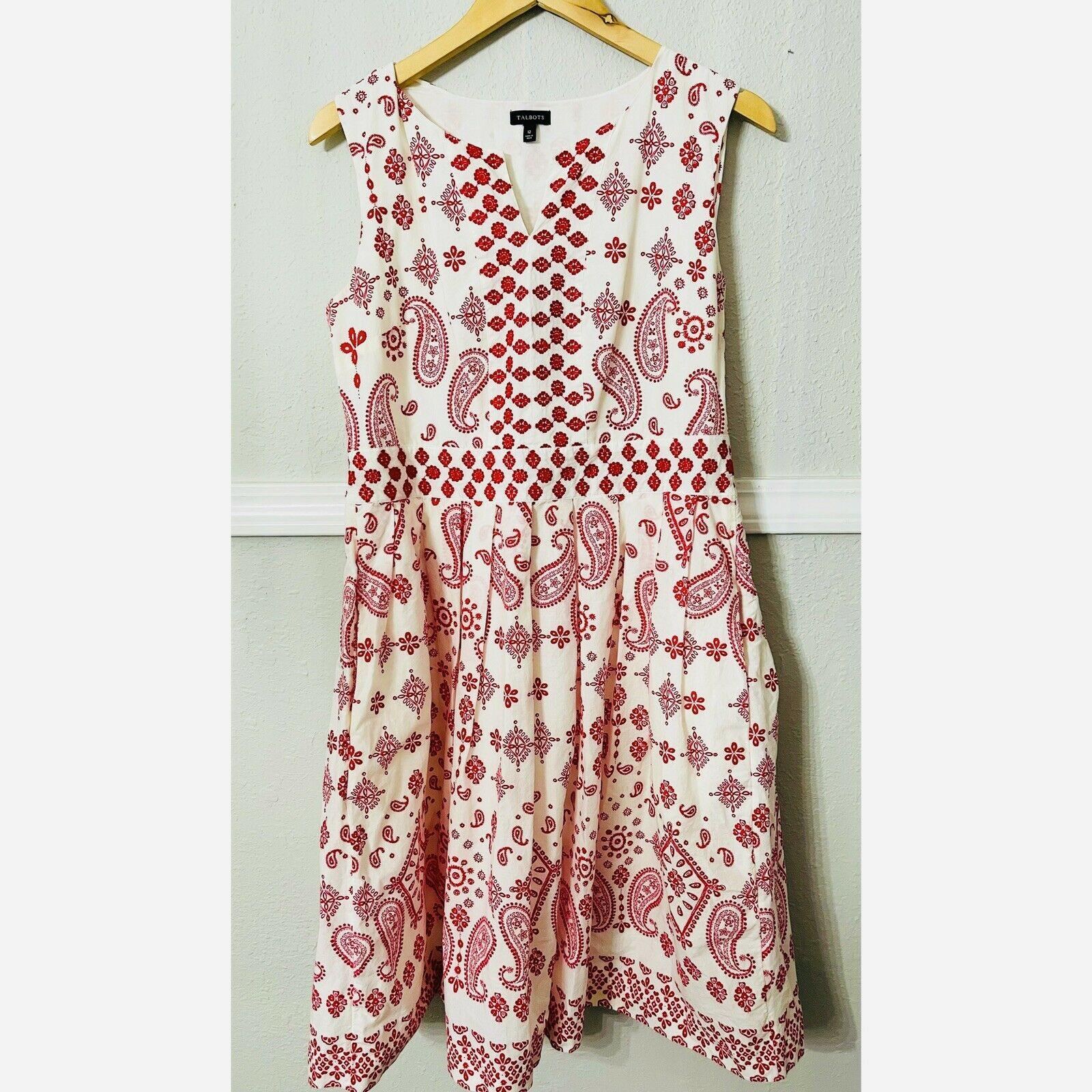 talbots embroidered dress - image 4