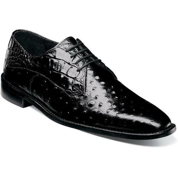 Stacy Adams Men's shoes Russo Leather Sole Oxford Black 25273-001