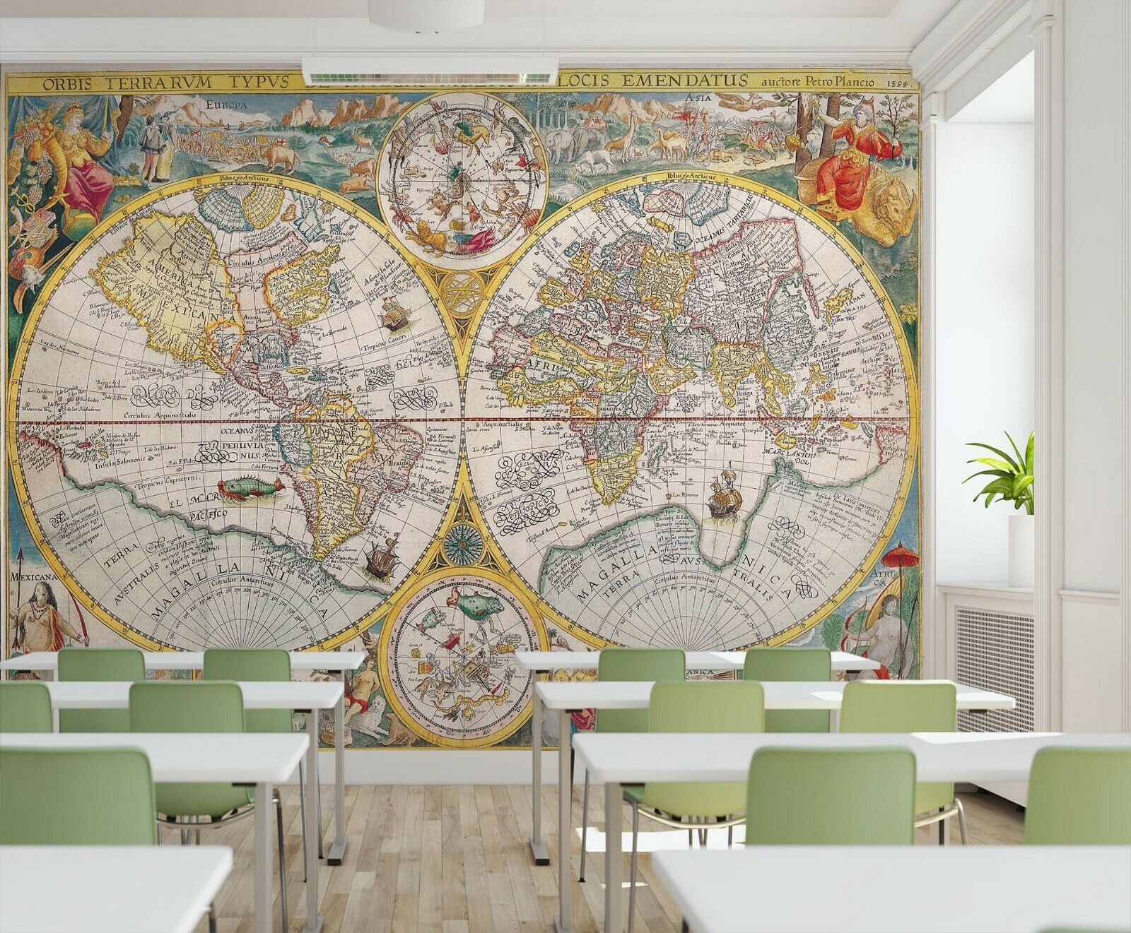 3D Land Erde Meer H184 Geschäft Tapete Wandgemälde Selbstklebend Handel An