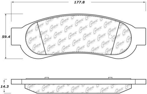 Disc Brake Pad Set-C-TEK Metallic Brake Pads Rear Centric 102.13340