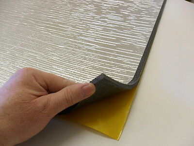 1 Fire Retardant Self adhesive Foil backed Noise reducing PE Foam 1m x 1m x 8mm