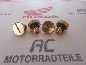 Honda Cb 350 400 500 550 750 Four Carburateur Ablaßschraube Screw Fuel Chamber-afficher Le Titre D'origine