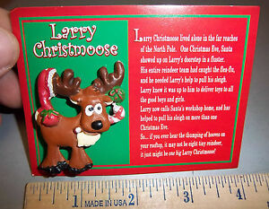 Larry-Christmoose-Lapel-Pin-comes-on-card-explaining-his-Legend-cute-Xmas-item