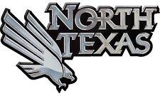 North Texas Mean Green SD76296 Premium Metal Chrome Auto Emblem University of