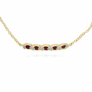 Gemondo-9ct-Yellow-Gold-Ruby-and-Diamond-Twisted-19cm-Bracelet