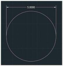 1pc Acrylic Plastic Plexiglass Round Sheet 18 X 5 Circle Clear