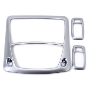 Roof Front Rear Reading Light Cover Trim 3pcs For Toyota Corolla 2014-2017