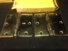 Kaba 213-04-51 Pair Of Brass Plated New York Style Back Plates With Keyhole