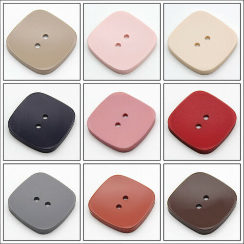 10pcs Square Wooden Buttons Sewing Button Coat Hat DIY Craft Clothes Shirts Acc