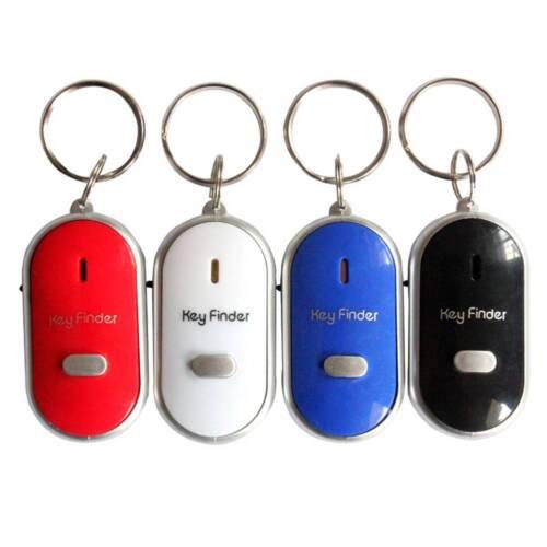 2er Schlüsselanhänger Schlüsselfinder weiß Key Locator mit LED Taschenlampe