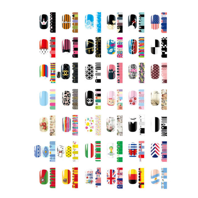 Self Adhesive Polish Foils Nail Art Decal Wraps Stickers Manicure Decoration DIY