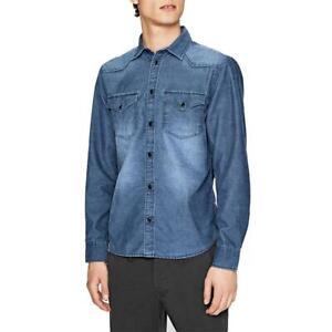 Pepe-Jeans-Canyon-Cord-Herren-Hemd-Langarm-Shirt-Jeans-look