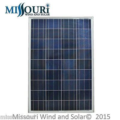 12 volt dc 100 watt Solar panel polycrystaline photovoltaic PV Off Grid