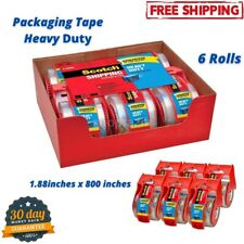 Scotch Moving Storage Packing Tape Mailing Heavy Duty Shipping Packaging 6 Rolls