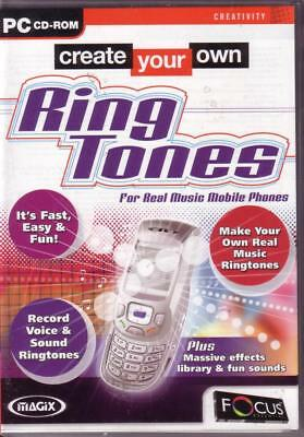 Create Your Own Mobile Phone Ring Tones, Fast, Easy & Fun, PC Software New  | eBay