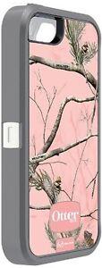 NEW Original OtterBox Defender Realtree Case&Belt Clip for iPhone 5/5S/SE Pink