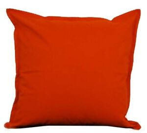 Details about Two Orange Throw Pillows With Insert Cotton Cushion Sofa  18\