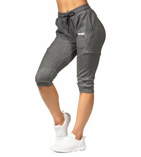 Iron Tanks Womens Fusion 3//4 Gym Pants Carbon Grey Workout Training Bodybuilding