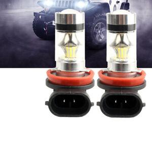 2x-Lampadine-Fendinebbia-a-LED-Super-3030-Alta-luminosita-H8-H9-H11-6000K-100W