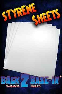 One (1) A4 x 1mm White Plasticard Styrene Plastic Sheet 300mm x 210mm